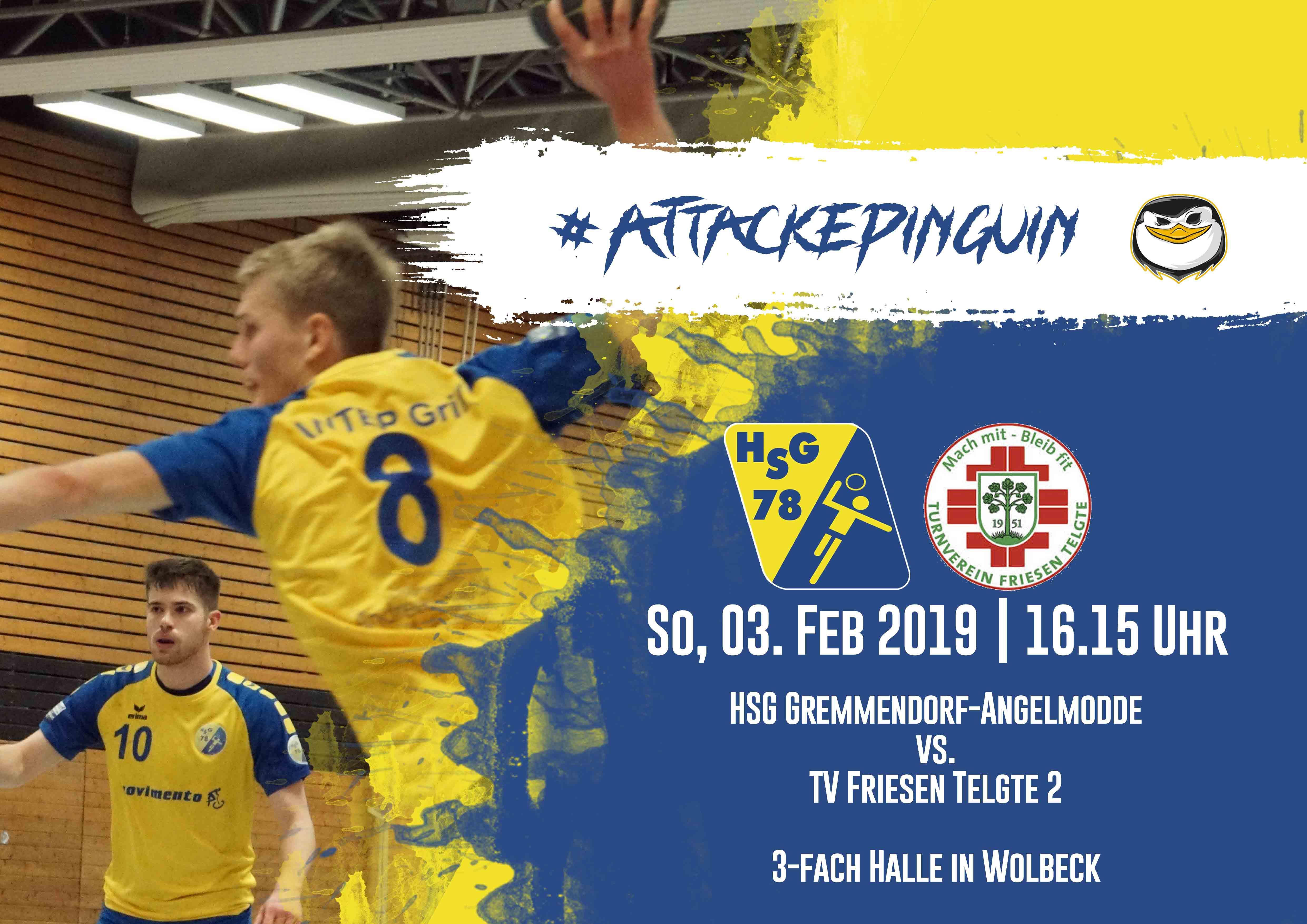 Poster des Spitzenspiels HSG Gremmendorf Angelmodde gegen Telgte