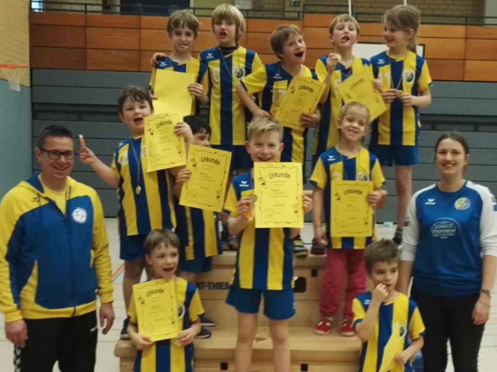 Minis HSG Gremmendorf Angelmodde Handball Speielfest beim DJK Hiltrup